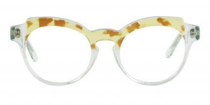 Occhiale Da Vista Filo Colore Trasparente E Tartaruga Gialla